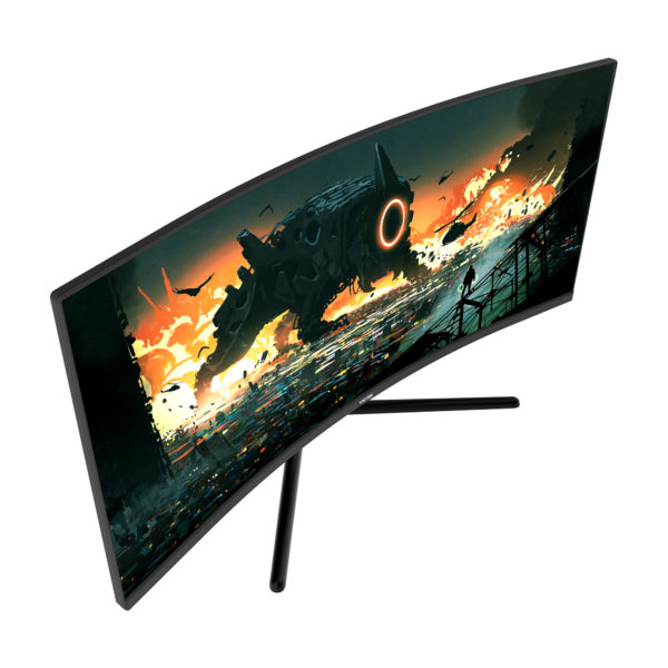"GNV34DBE 34"" UWQHD Curved Gaming Monitor — 144Hz 1440p w/ Dual DP 1.4 & Dual HDMI 2.0 Connections (VESA)"