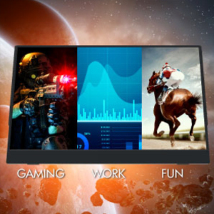 LinQ Portable Monitor ideal for gaming, work, and fun.