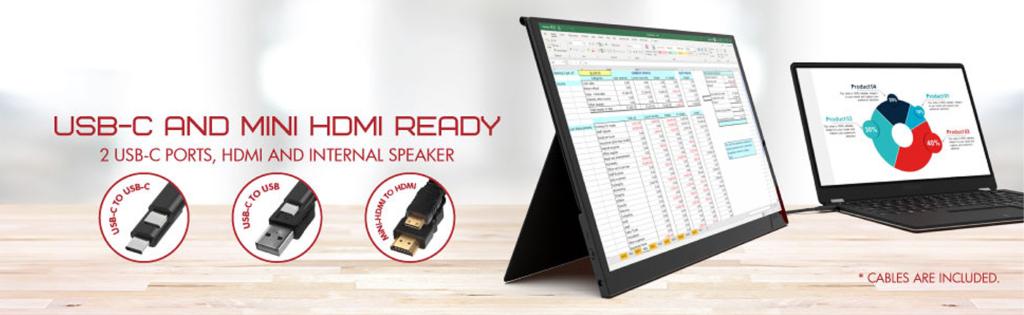 LinQ HDMI Ready Portable Monitor by Viotek