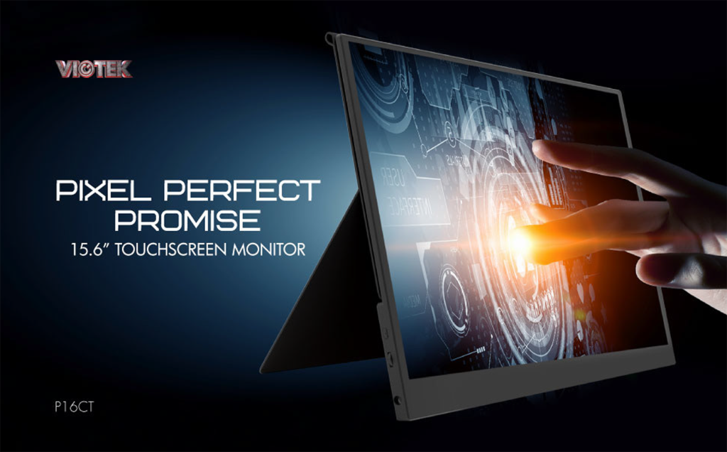 P16CT Portable Touchscreen Monitor with Pixel Perfect Promise by Viotek