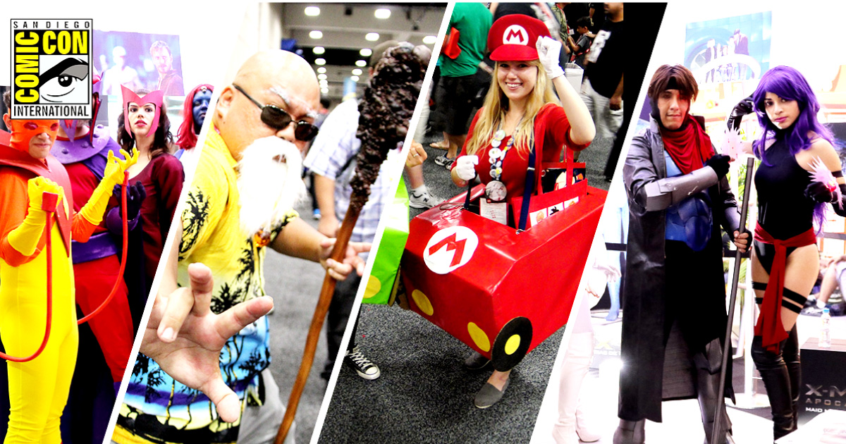 A myriad of cosplayers at San Diego Comic-Con