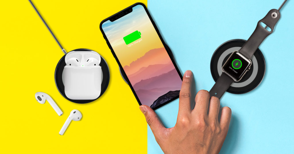 A wireless charger from viotek.complete with fast-charging capabilities